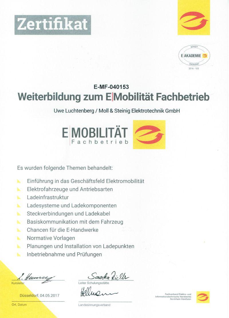Zertifikate - Moll & Steinig Elektrotechnik GmbH - Ihr ...
